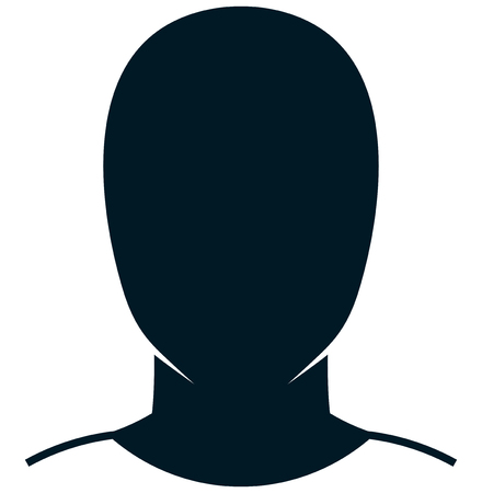 Human head and shoulders simple illustration isolated on white