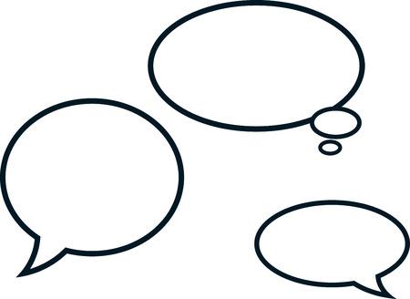 Illustration pour Speech bubbles comic clouds vector illustration isolated - image libre de droit