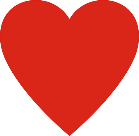 Valentines day. Heart valentine simple vector illustration isolated. Love symbol