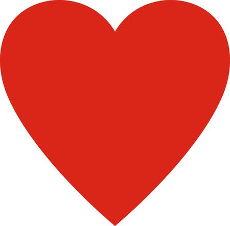 Illustration pour Valentines day. Heart valentine simple vector illustration isolated. Love symbol - image libre de droit