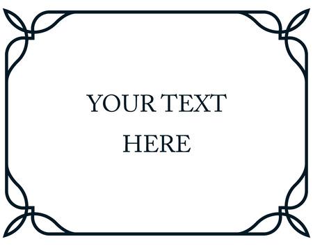 Illustration pour Border frame line deco vector label simple horizontal - image libre de droit