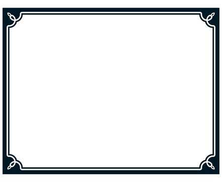 Ilustración de Border frame line deco vector label simple - Imagen libre de derechos