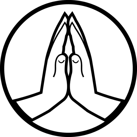 Illustration pour Praying hands vector icon - image libre de droit