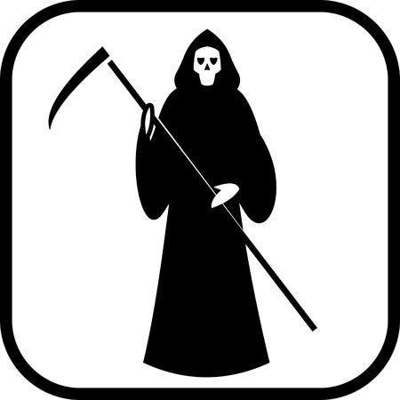 Illustration pour Death with scytheman vector icon - image libre de droit