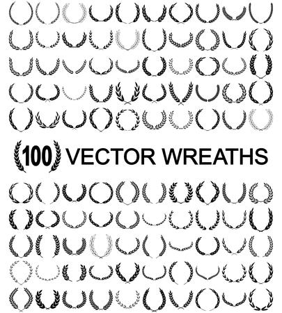 Ilustración de Laurel Wreaths Vector - Imagen libre de derechos