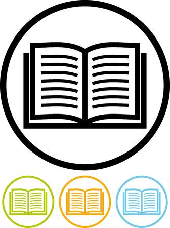 Illustration pour Vector icon isolated on white - Book - image libre de droit