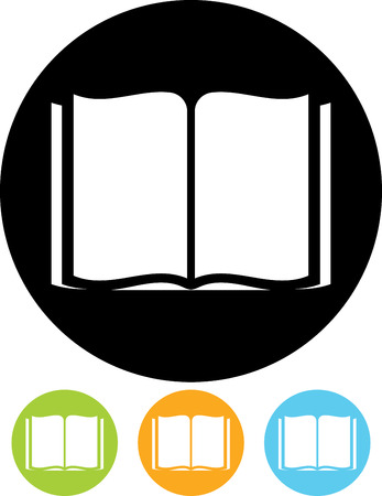 Illustration for Open Book - Vector icon - Royalty Free Image