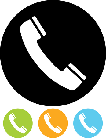 Phone receiver vector icon. Contact us