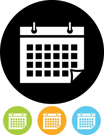 Ilustración de Calendar organizer schedule agenda - Vector - Imagen libre de derechos