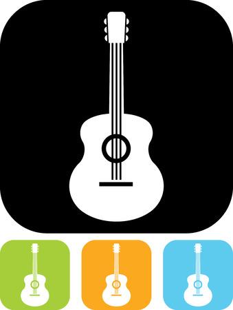 Illustration pour Acoustic guitar - Vector icon isolated - image libre de droit