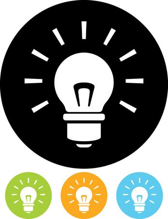 Illustration pour Shining lightbulb - Vector icon - image libre de droit