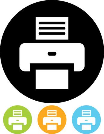 Printer - Vector icon isolated