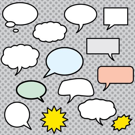 Illustration pour Vector comics speech bubbles illustration - image libre de droit