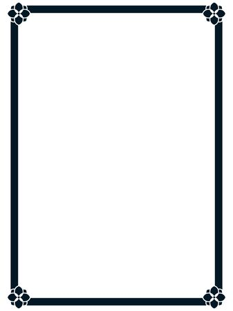 Illustration pour Frame border line page vector vintage simple - image libre de droit