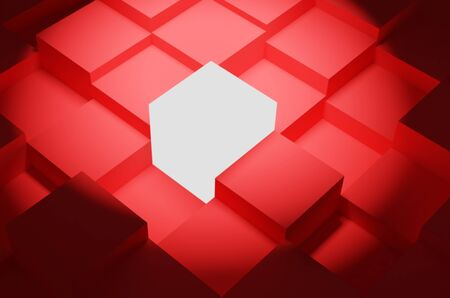 Photo for one different cube among other identical cubes. leadership and uniqueness concept. rendered in 3d - Royalty Free Image
