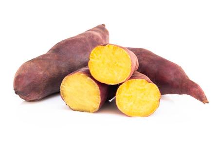 Photo pour Sweet potato boil isolated on white background, food healthy diet concept - image libre de droit