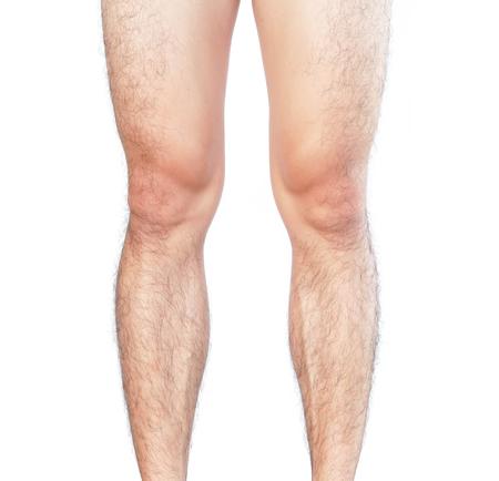 Photo pour Closeup legs men skin and hairy for health care concept - image libre de droit