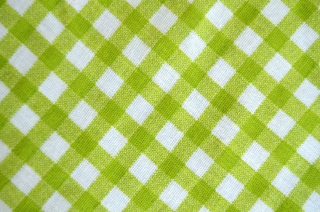 Green And White Gingham Tablecloth Material
