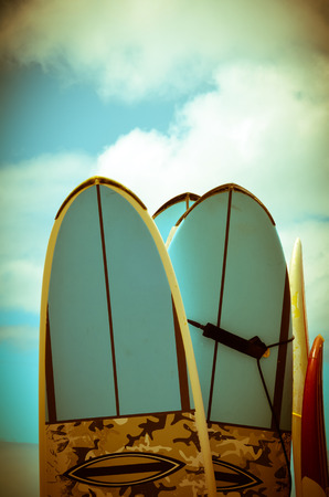 VIntage Hawaii Image Of Retro Styled Surf Boards