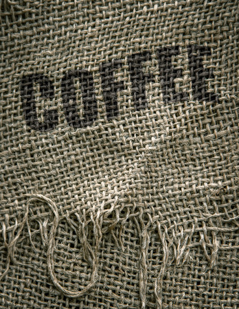 Rustic Photo Of Gourmet Organic Coffee Beans In A Burlap Sack