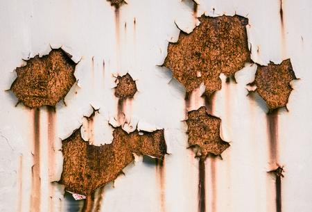 Photo pour Grungy Background Texture Of Peeling Paint And Rust - image libre de droit