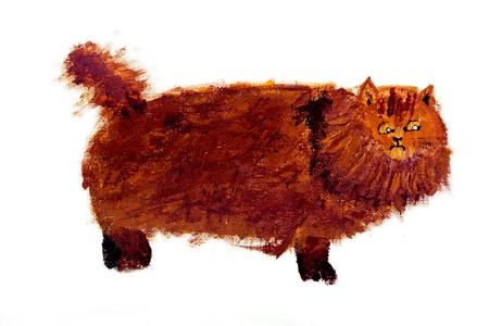 Scaredy cat painting by Tisha Bratt