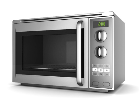 Photo pour Image of the microwave oven on a white background - image libre de droit