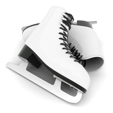 skates for figure skating on a white background
