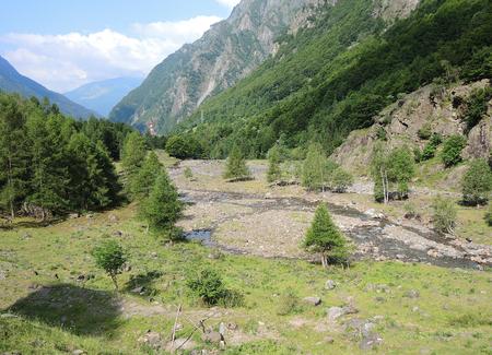 Valbondione, Bergamo, Italy. Landscape of the valley where Serio is born