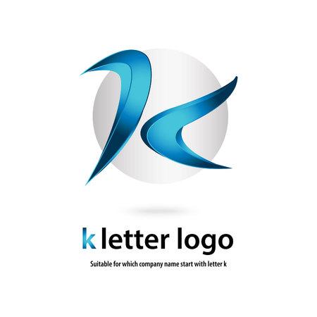 Illustration pour 3d k letter - image libre de droit
