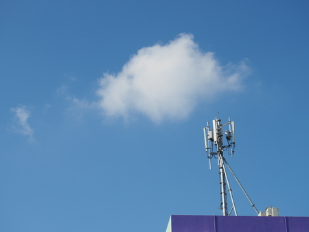 Base transceiver Station (BTS) on the top of the building, Mobile Communication Technology