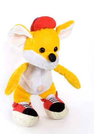 toy mouse wanted colour on white background