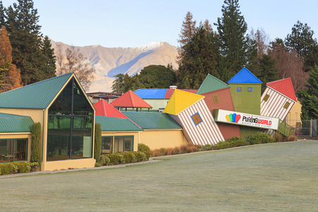 WANAKA, NZ -MAY 21: Facade of Stuart Landsborough