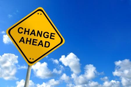 change ahead sign on bluesky