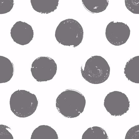 Illustration pour Seamless pattern. Background with painted circles. Vector texture. Brush drawn - rough, artistic edges. - image libre de droit