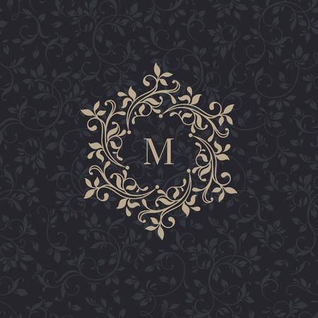 Illustration pour Floral monograms for cards, invitations, menus, labels. - image libre de droit