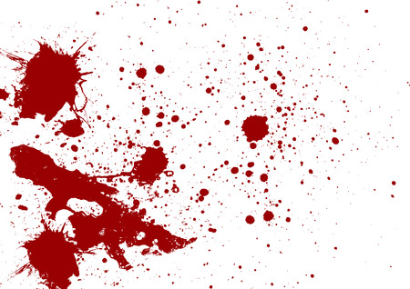 Abstract red color splatter on white background