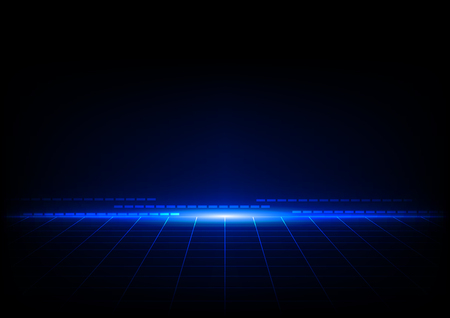 abstract blue concept with grids perspective design background
