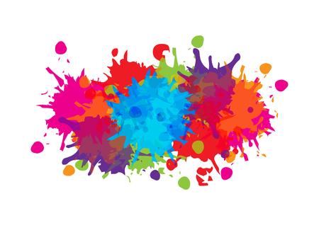Illustration for abstract splatter color background design. illustration vector design - Royalty Free Image