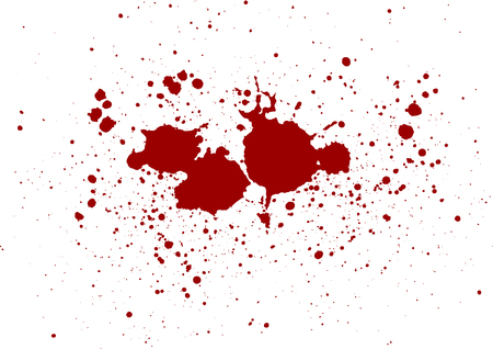 Illustration for abstract vector blood splatter design background. illustration vector design - Royalty Free Image