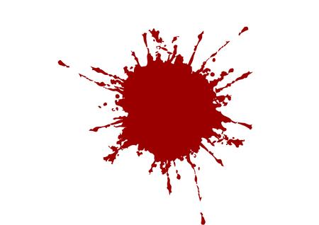 Illustration for abstract vector splatter red color background. illustration vector design - Royalty Free Image