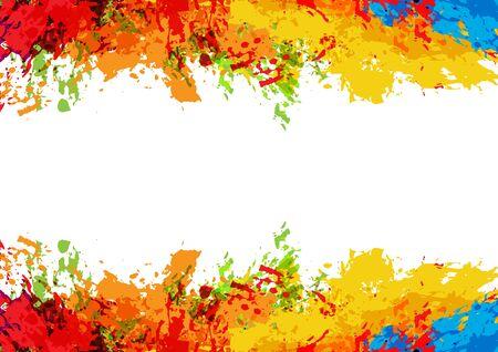 Illustration for abstract vector splatter color on white color design background. illustration vector design. - Royalty Free Image
