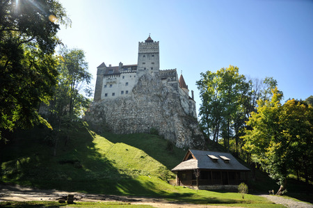 Bran, Romania - September 30th, 2016: Image of the Bran Castle from Transylvania, in Bran, Romania.