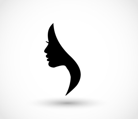 Foto de Woman profile beauty illustration vector - Imagen libre de derechos