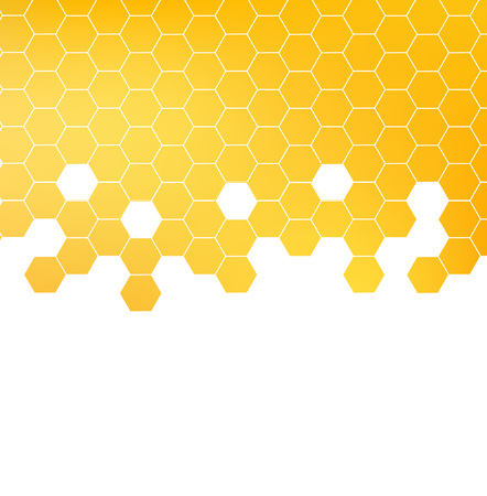 Illustration pour Honey pattern vector - image libre de droit