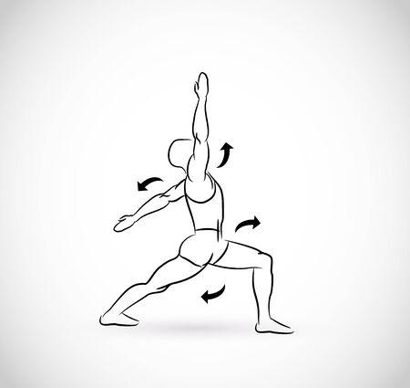 Illustration for Types of exercises - illustration - Royalty Free Image