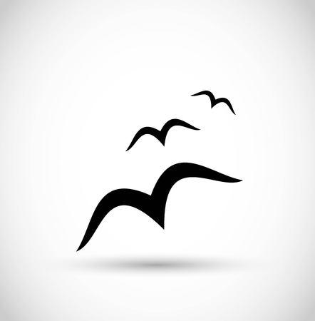 Ilustración de Seagull / birds icon vector - Imagen libre de derechos