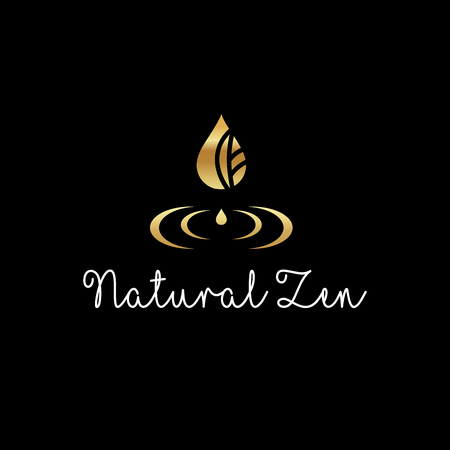 Illustration for Beautiful elegant logo - Natural Zen vector - Royalty Free Image