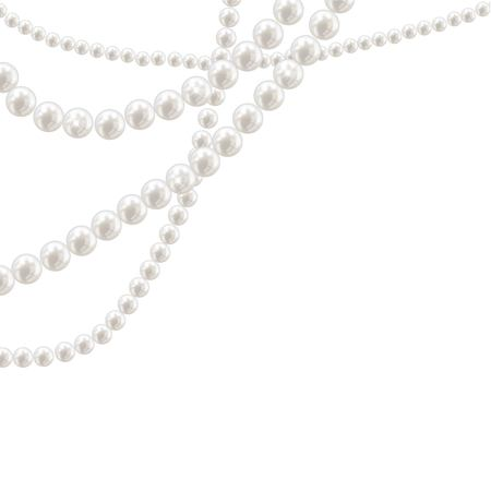 Illustration pour Vector pearl necklace on light background - image libre de droit