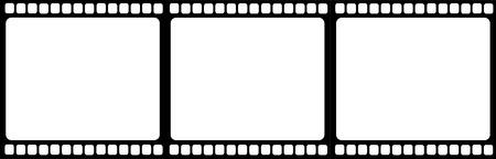 Illustration for Filmstrip illustration vector - Royalty Free Image